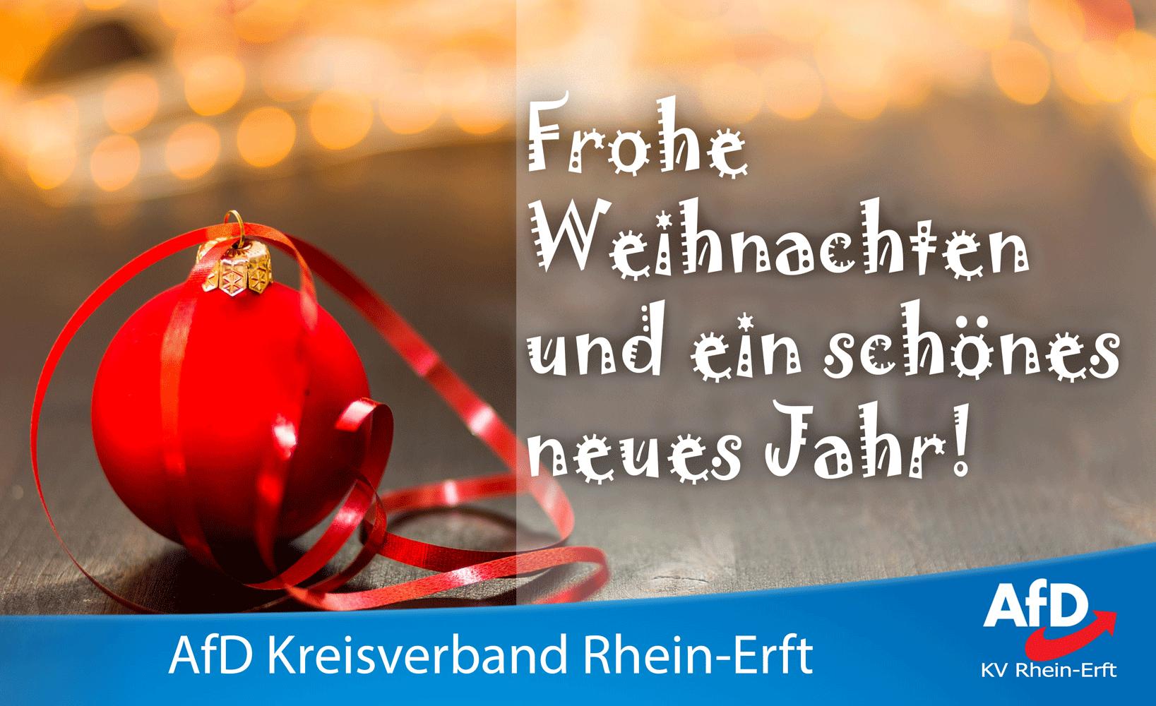 Frohe Weihnachten Und Schönes Neues Jahr.Frohe Weihnachten Und Ein Schönes Neues Jahr Afd Rhein Erft
